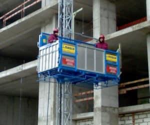 Мачтовый грузопассажирский строительный подъемник MABER, Италия model: MBC 2000/150